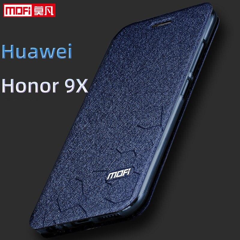 Чехол с откидной крышкой для huawei Honor 9X чехол HLK-AL00 Honor 9X крышка 6,59 дюймов Процессор Kirin 810 кожаный чехол mofi кремния книга блеск класса люкс