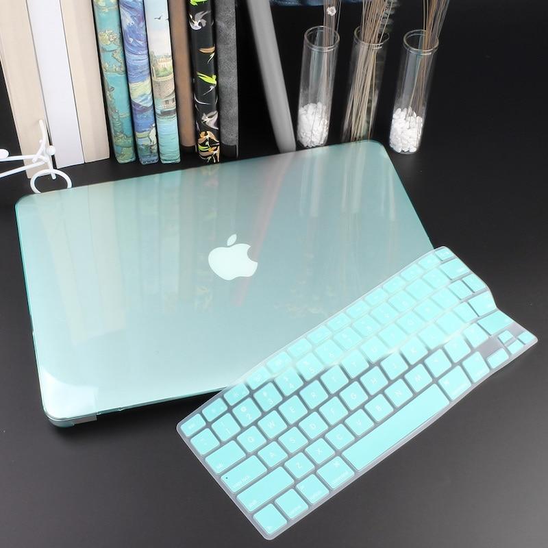 Чехол для ноутбука 4 в 1 для MacBook Air 11, 13 дюймов и Pro retina 13,3, 15,,,, кристально Матовый Жесткий чехол для клавиатуры - Цвет: Crystal Green