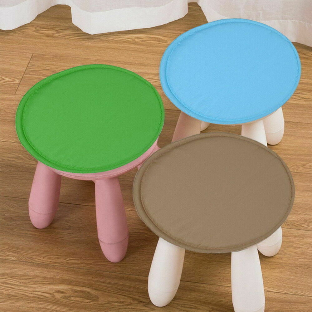 30/38cm Bistro Round Chair Seat Cushion Pad Cushions Solid Round Tie-on Kitchen Dining Removable Cover