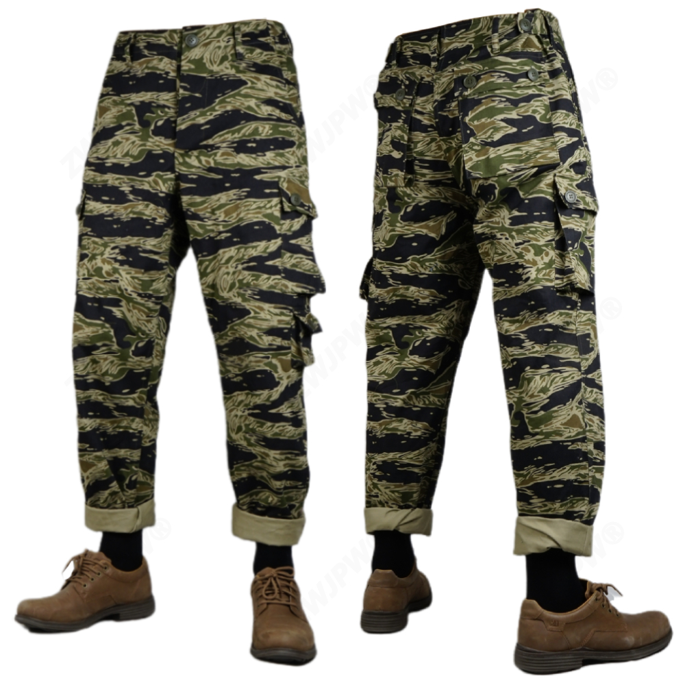 WW2 Vietnam War U.S. Army Tiger Pattern Tiger Spot Camouflage TCU Pants Twill