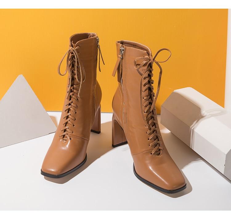 botas moda cruz cinta quadrada saltos altos