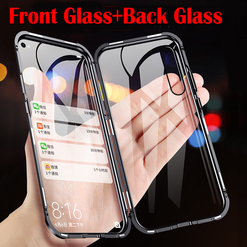 Double Side 360 Degree <font><b>Magnetic</b></font> Adsorption Glass <font><b>Case</b></font> For Huawei <font><b>Honor</b></font> 20 P30 P20 Lite Pro 10 <font><b>8X</b></font> 9X View 20 V20 Phone <font><b>Case</b></font> Cover image