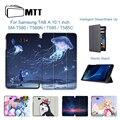 MTT чехол из искусственной кожи для Samsung Galaxy Tab A A6  10 1 дюйма  T580 T585  SM-T580  SM-T585  пурпурный флип  умный чехол для планшета