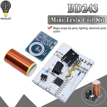 WAVGAT BD243 Mini Tesla Coil Kit Magic Props DIY Parts Empty Lights Technology D