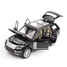 1:24 Alloy Car Toy Range-Rover SUV Simulation Sound And Light Door Pull Back Children's Toy Car Model Diecasts Toy Vehicles Gift недорого