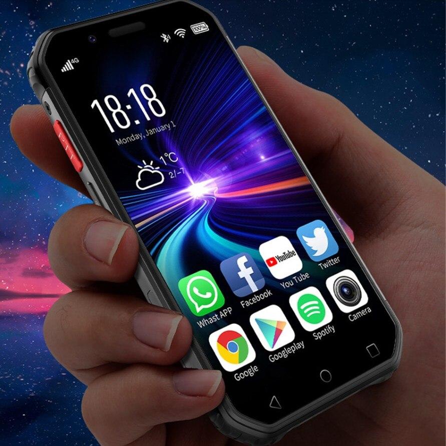 Soya S10 su geçirmez Mini akıllı telefon Walkie talkie NFC 3GB 32GB 4G 3 parmak izi 5MP sağlam küçük telefon