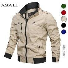 Мужская куртка в стиле милитари на весну и осень, хлопковая ветровка, пальто пилота, армейская мужская куртка-бомбер, куртка для полетов, мужская одежда