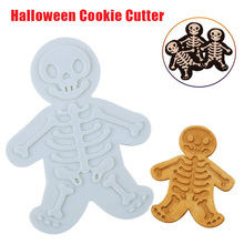 Halloween Gingerbread Skeleton Cookie Cutter Plastic Biscuit Mold Fondant Pastry Dough Cookies Tools