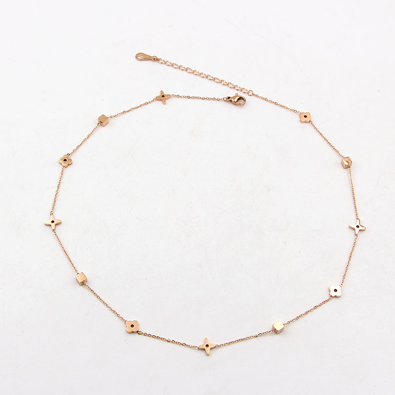 Collars Choker Necklaces For Women Flower Star Shape 45cm+5cm Gold Silver Color Extender Babygirl Necklaces Collier Best Friend