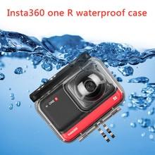Аксессуары для Insta360 ONE R водонепроницаемый чехол для дайвинга водонепроницаемый корпус 360 панорамная версия защитный чехол для камеры аксес...