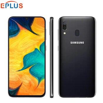 Перейти на Алиэкспресс и купить Оригинальный Новый мобильный телефон samsung Galaxy A30 A305F-DS LTE, 6,4 дюймов, 4 Гб ОЗУ, 64 Гб ПЗУ, четыре ядра, Android 9,0, две sim-карты, отпечаток пальца