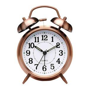 Vintage Bell Alarm Clock Retro Quartz Alarm Clock Ticking Table Clocks Bedroom Home Office Decoration High Quality