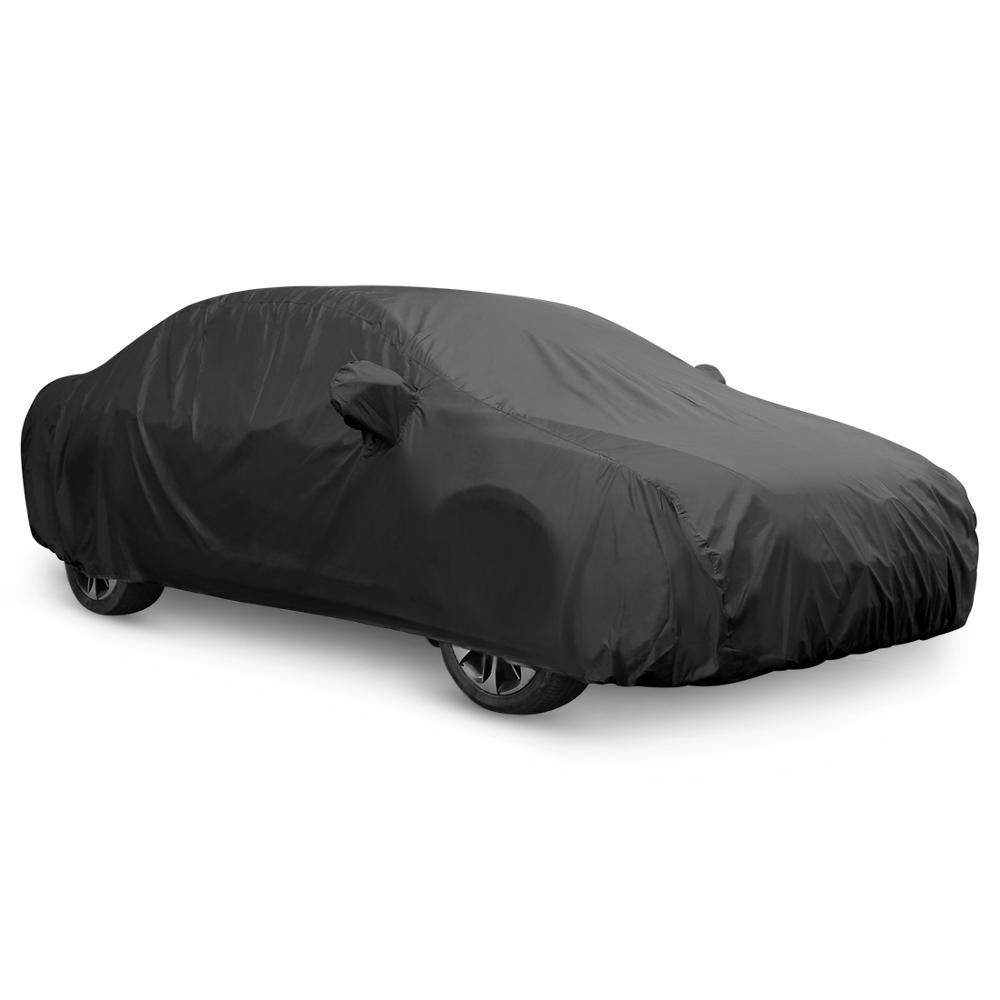 Universal Black 7 Sizes Car Cover Outdoor Weather Waterproof Breathable Scratch Rain Snow Heat Resistant Protection Car Covers