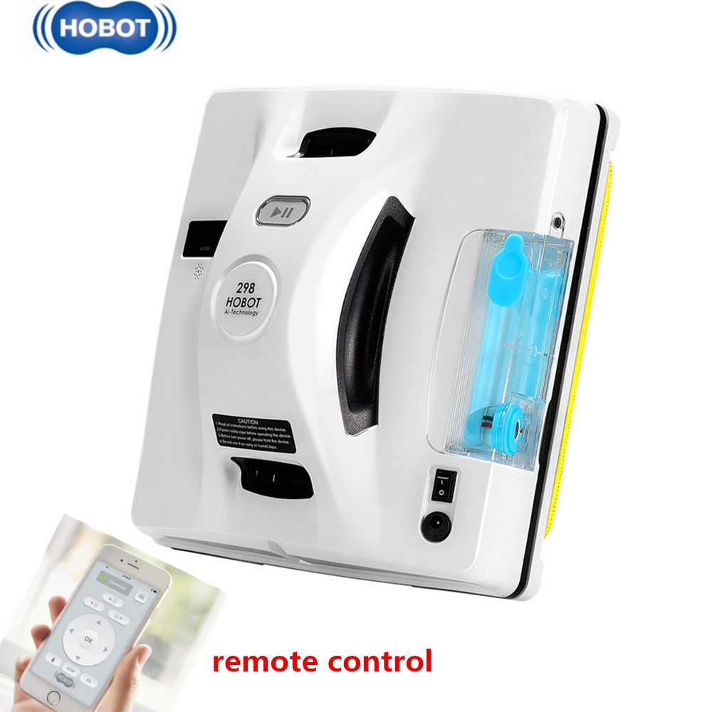 HOBOT 298 Window Cleaning Robot Smart Life Windows Cleaner With Water Sprayer Auto Cleaning Window Washer Remote APP Control|Electric Window Cleaners| |  -