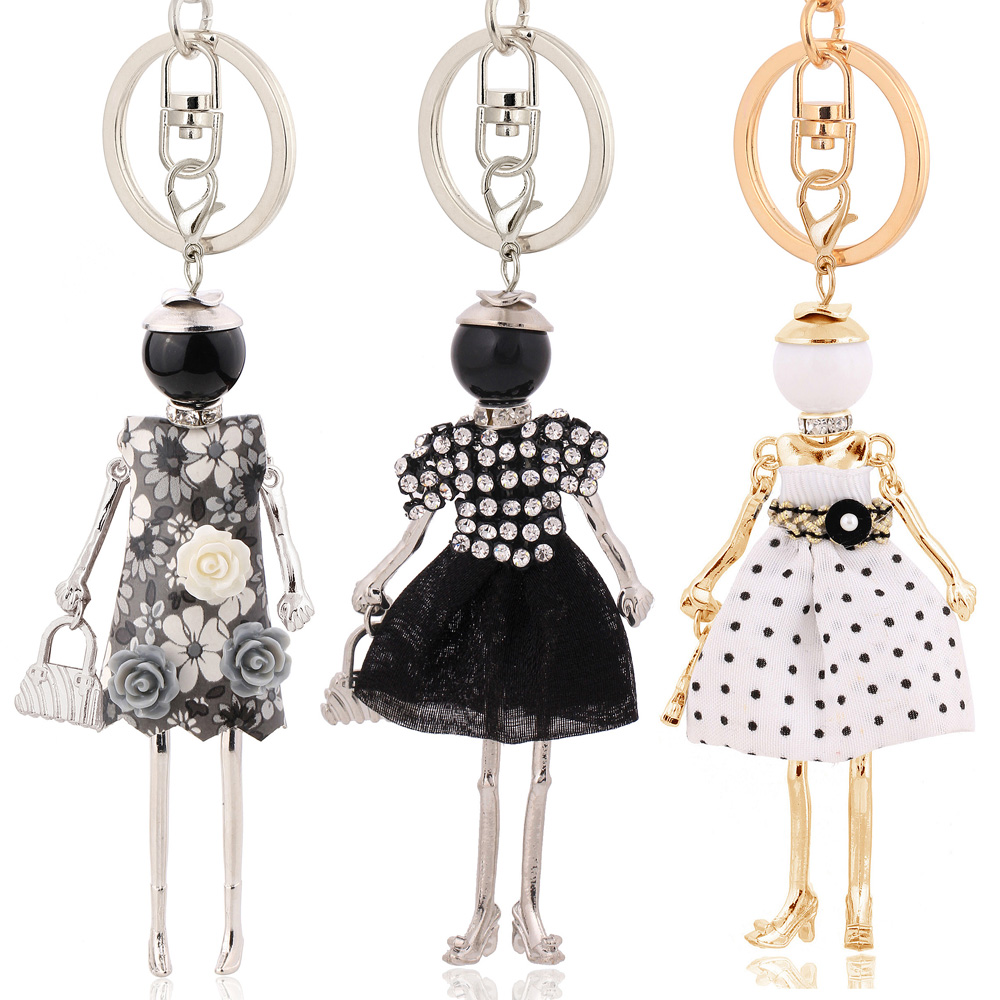 Statement Beauty Keychain Charms Lovely Gifts Key Chain Flower Jewelry 2020 Charms Fashion Women Accessory