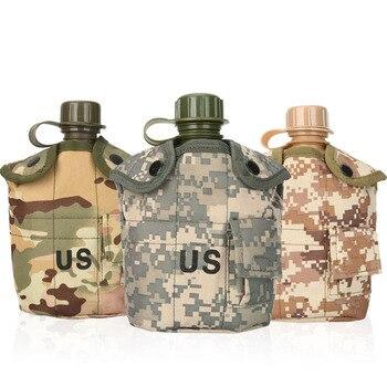 CNDRAGON Brand Large Capacity 1000ml Kettle sport Outdoor travel Bottle Portable Folding water bottle military camouflage bag 1