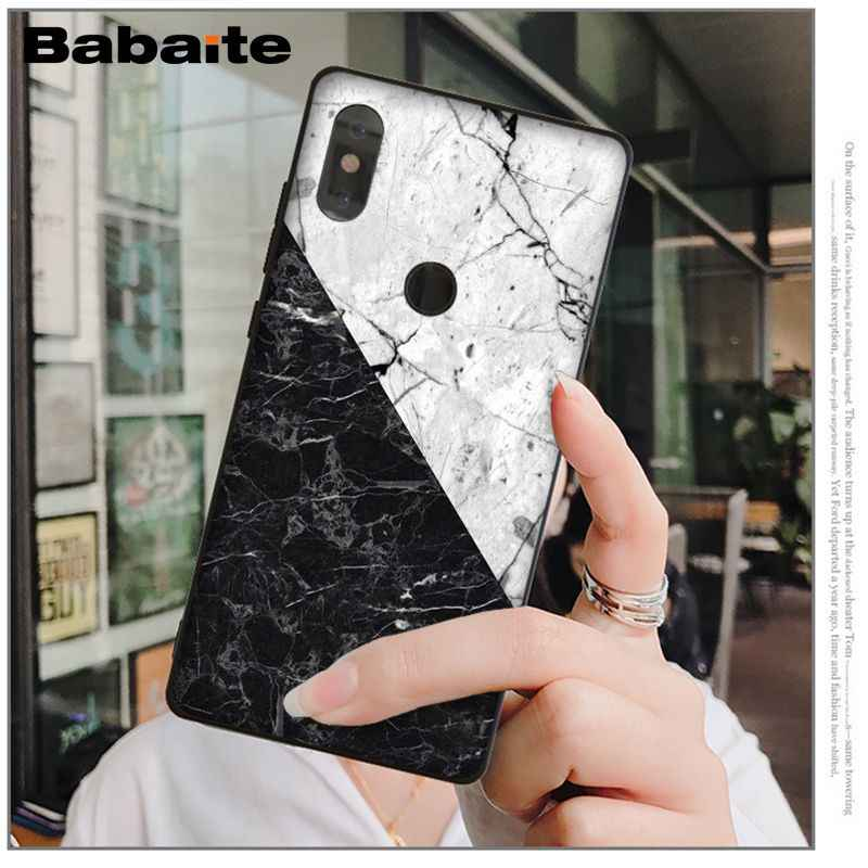 Funda para móvil con textura de mármol rosa y blanco de granito Babaite para Xiaomi MI MIX 2 2S MAX2 MAX3 6 8 8SE 9 9se Note 2 3 Redmi 5 plus