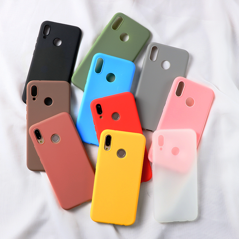 Candy Color Soft TPU Cases For <font><b>Huawei</b></font> P Smart Honor View 20 9 Mate 10 20 P10 P30 P20 Lite <font><b>2019</b></font> Pro 2017 <font><b>Y6</b></font> Pro Y9 2018 <font><b>2019</b></font> Case image