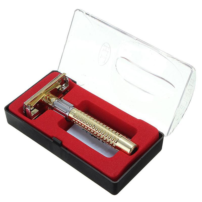 Retro Shaving Razor New Men's Safety Handheld Manual + Afeitar Razor Blade Double Box Safety De Shaver Maquina Edge