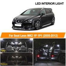 12 шт. белый Canbus без ошибок светодиодный светильник для чтения купольной карты для салона, набор ламп для 2005-2012 Seat Leon MK2 1P 1P1 автомобильные аксе...