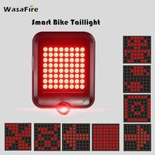 WasaFire Smart Brake projekcja światło rowerowe 64 LED czerwony Laser rower Taillight USB rower na akumulator reflektor tylne światła rowerowe tanie tanio Rear Bike Light BTA0100B2 Sztyca Baterii CCC CE 64pcs 1200mAh (polymer lithium battery) USB charger Smart brake projection lamp
