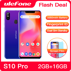 Image 1 - Ulefone S10 Pro Mobile Phone Android 8.1 5.7 inch MT6739WA Quad Core 2GB RAM 16GB ROM 16MP+5MP Rear Dual Camera 4G Smartphone