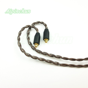 Image 5 - Aipinchun MMCX Headphones Cable Mic Volume Controller Replacement for Shure SE215 SE315 SE425 SE535 SE846 3.5mm L Bending Jack