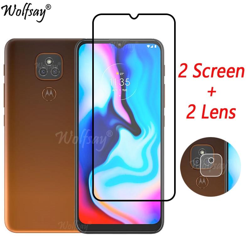 Закаленное стекло с полным покрытием для Motorola Moto E7 Plus, Защита экрана для Motorola E7 Plus, стекло для камеры Moto E7 Plus, стекло