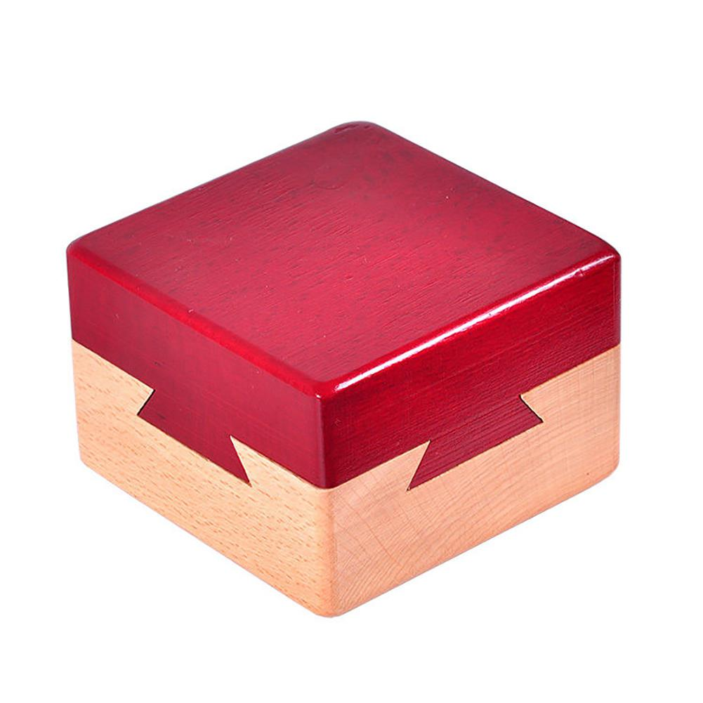 Kuulee Wooden Secret Box Creative Gift Box For Hidden Diamond Jewelry Cash Surprise For Companions Lovers Friends