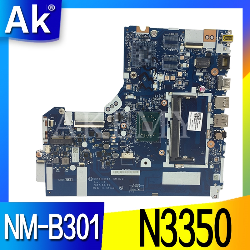 NM-B301 for <font><b>Lenovo</b></font> <font><b>Ideapad</b></font> <font><b>320</b></font>-15IAP Laptop <font><b>motherboard</b></font> DDR3L 5B20P20644 N3350 CPU 100% Tested original work image