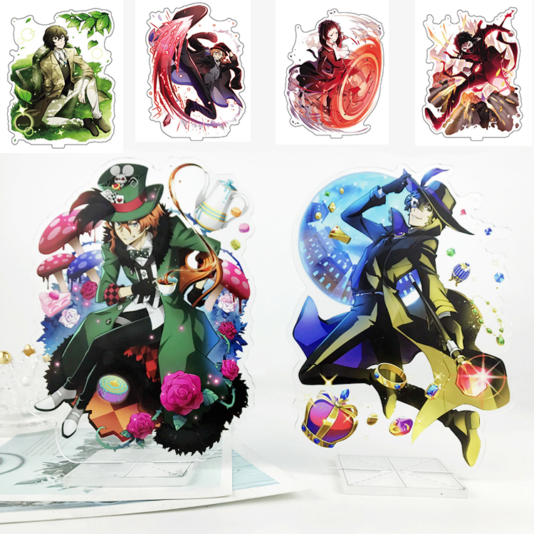 Japanese Anime Bungou Bungo Stray Dogs Character Acrylic Stand Figure Decoration Cosplay Decor Birthday Gift 15cm