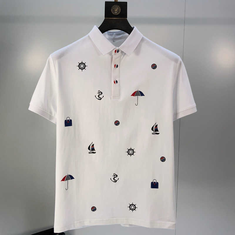 2020 새로운 브랜드 남성 폴로 셔츠 여름 짧은 소매 클래식 옴므 의류 캐주얼 코 튼 럭셔리 디자이너 슬림 인쇄 패션 탑스