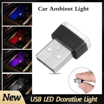 7 Colors Mini USB Light LED Modeling Light Car Ambient Light Neon Interior Light Car Interior Decorative Light Car Goods