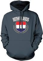 TSDFC Men's Netherlands Dutch Flag Shield Hooded Sweatshirt Unisex men women hoodie