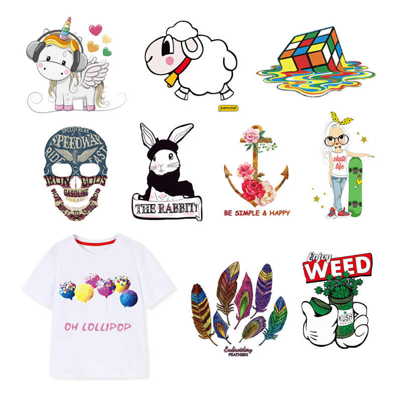 Candy Iron on Patches Feather Sheep Rubik's T shirt Cube Heat ...