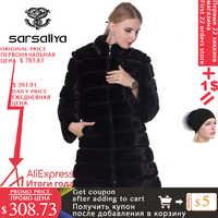 Abrigo de piel auténtica de visón invierno abrigos de visón de piel Natural y chaqueta negro transformador ropa de abrigo para mujer 2019 Vintage de talla grande 7XL