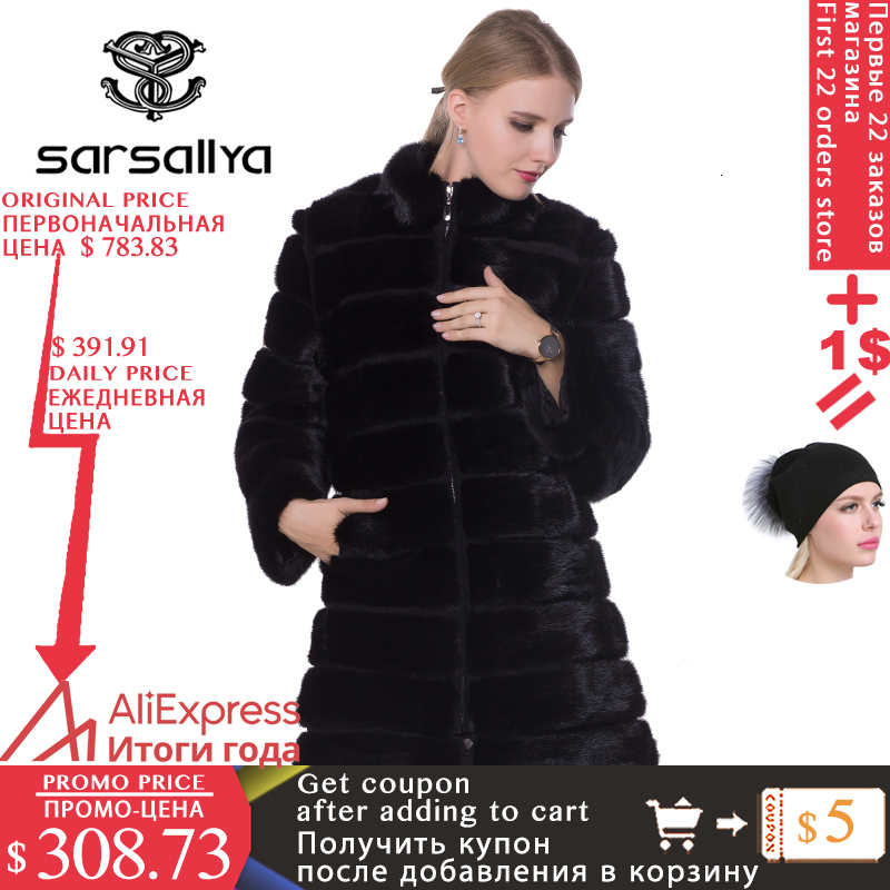 Réel vison fourrure manteau hiver longue fourrure naturelle vison manteaux et veste noir transformateur chaud femmes vêtements 2019 Vintage grande taille 7XL