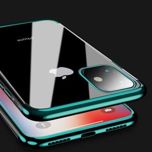 Image 2 - 전기 도금 케이스 iPhone 11 Pro 7 8 6 6s s Plus 12 iPhone X XR XS Max 쉘용 투명 소프트 실리콘 도금 커버