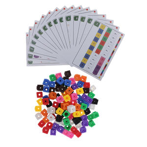 Learning Math Link Cube Preschool Counting Sorting Calculation Toys