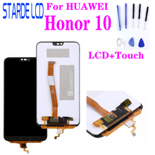 For HuaWei Honor 10 LCD Display Touch Screen Digitizer Assembly Replacement Honor 10 LCD Touch with Fingerprint Repair Parts high quality for huawei honor 5x 2gb ram lcd lcd display touch screen digitizer assembly smartphone replacement parts