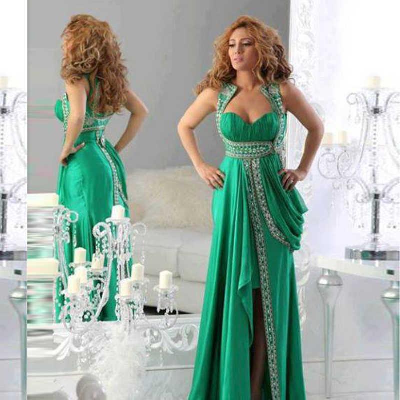 Abiti Da Cerimonia Verde Smeraldo.Dubai Abiti Da Sera Marocco Caftano Sweetheart In Rilievo Con