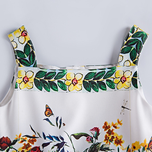 Image 3 - Beenira Girls Summer Dress 2020 European And American Style Children Sleeveless Floral Pattern Causal Dress 4 14y Clothes Dress