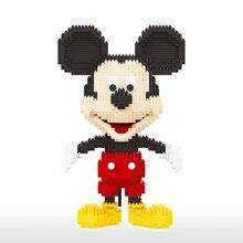 Disney 1831 adet + Mickey Mouse elmas blokları mikro 3D modeli fare klasik karikatür Mini yapı tuğlaları rakamlar tuğla oyuncaklar