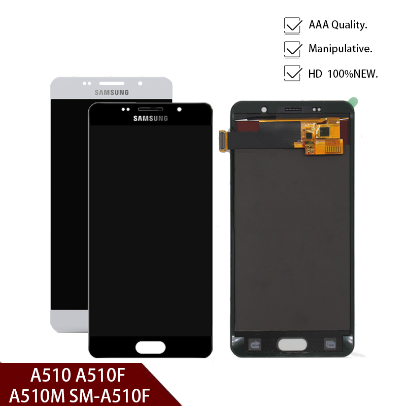 New Original For Samsung A5 2016 LCD Display A510 A510F A510M SM-A510F Touch Screen Digitizer LCD Assembly Replacement