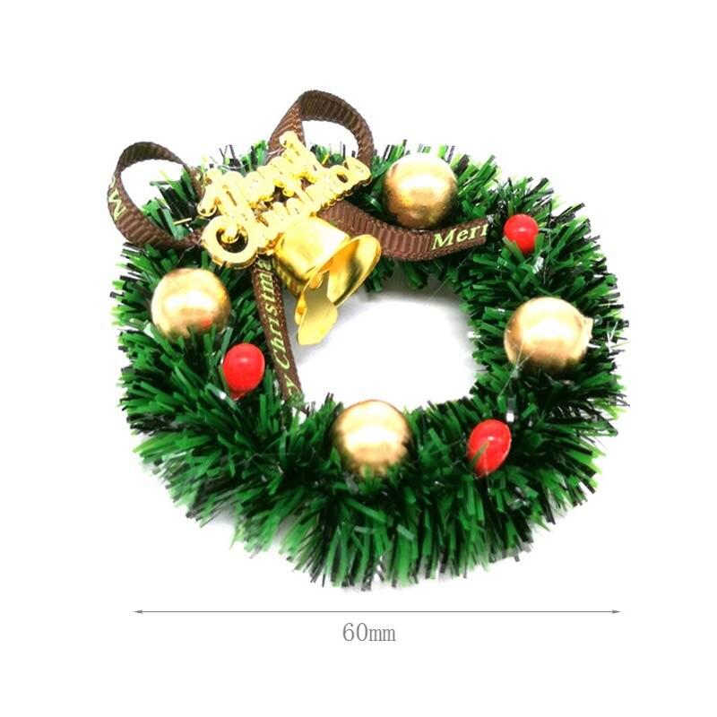 2 PCS 1//12 Dollhouse Merry Xmas Tree Hanging Wreath Xmas Decoration Toys