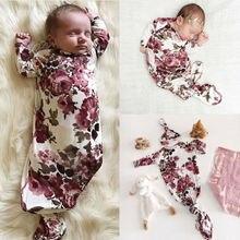 CANIS для новорожденных Осень с длинными рукавами и цветочным орнаментом; пеленка с принтом одеяло для сна мешок пеленать муслиновая пеленка