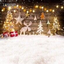 Laeacco Рождественский Фотофон дерево деревянная доска звезда Олень Детские Фото фоны фотографии фоны для фотостудии Фотостудия