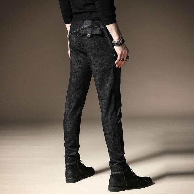 Free shipping new fashion men's male casual Original camouflage jeans men plus velvet autumn stitching pants male Slim Korean 29