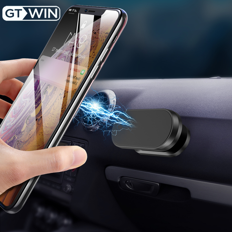 GTWIN Magnetic Car Phone Holder For IPhone Max Samsung Xiaomi Mobile Phone Dashboard Magnet Phone Stand In Car Stand Universal