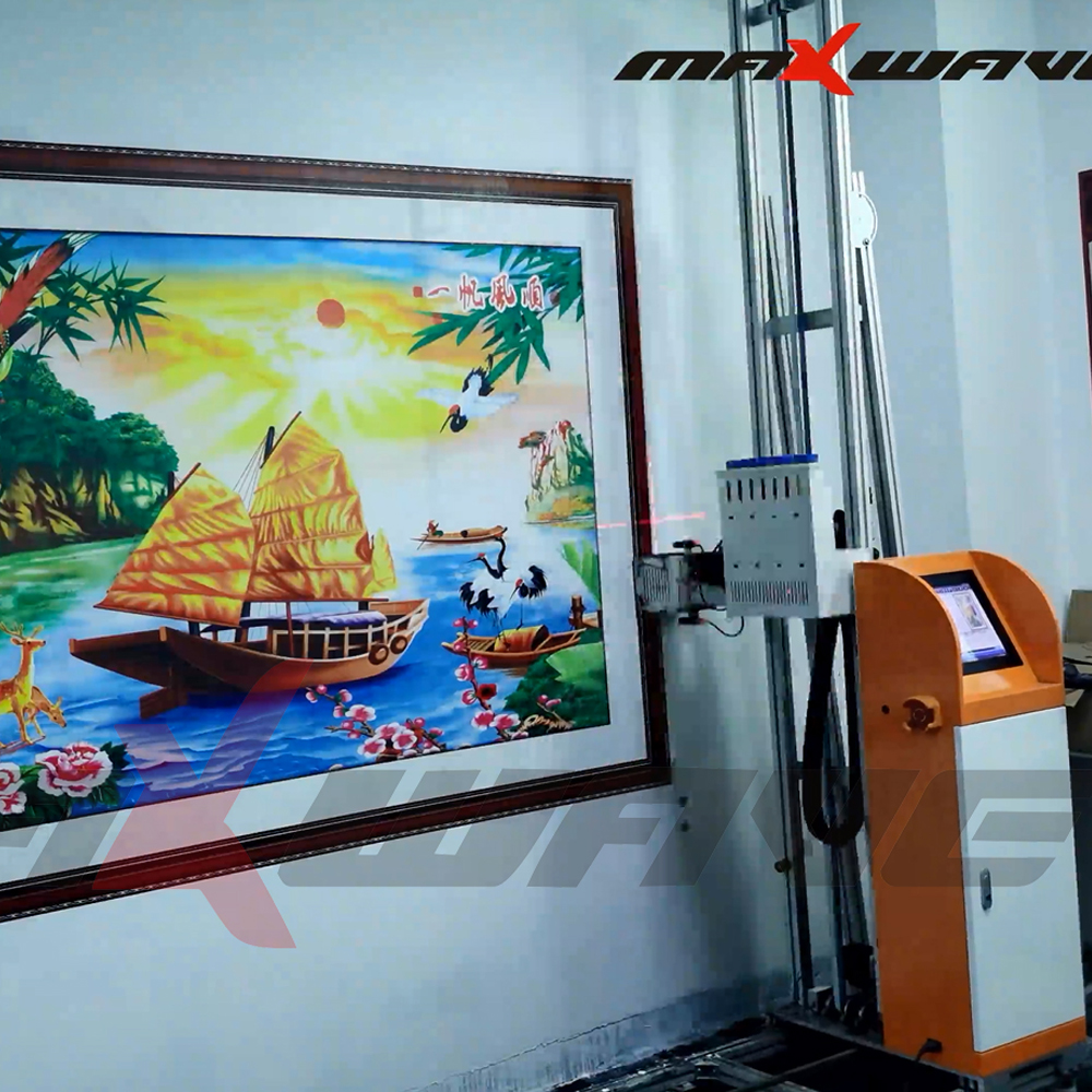 High Resolution Vertical 3D Wall Inkjet Printer For Outdoor Advertising Board